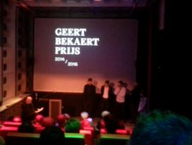 Mark Minkjan wint Geert Bekaert-prijs
