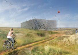 Wind afleesbaar in Transformatorgebouw op Afsluitdijk