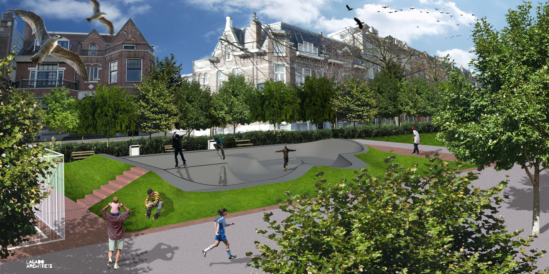 Skatepool voor de buurt   de architect