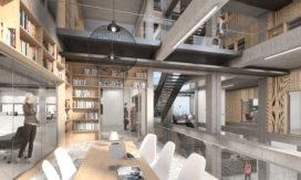 Atrium als tetrisspel