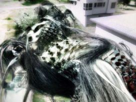 Futuristisch huis gebruikt biogenetische vormen