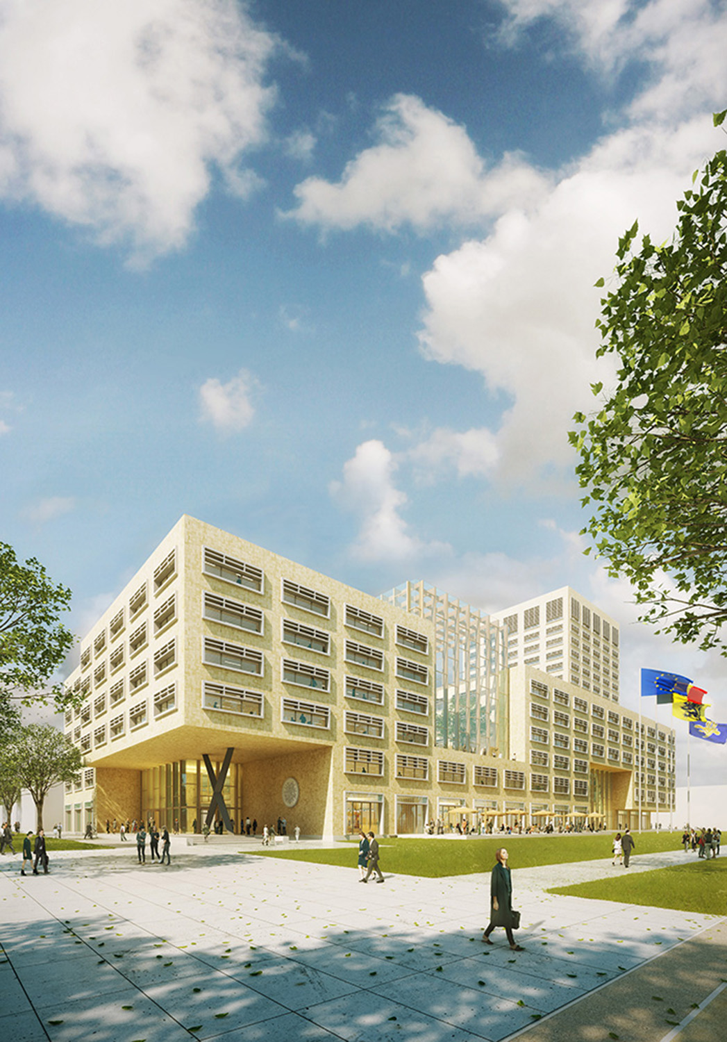 Render Ster van de Week_Neutelings_Riedijk_Herman Teirlinckgebouw_Brussel