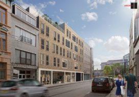 BURO II & ARCHI + I ontwerpt commercieel wooncomplex in Ledeberg