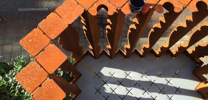 Balkon Gevouwen Staal - Nominatie Staalbouwprijs 2016 Foto: NEXIT Architects
