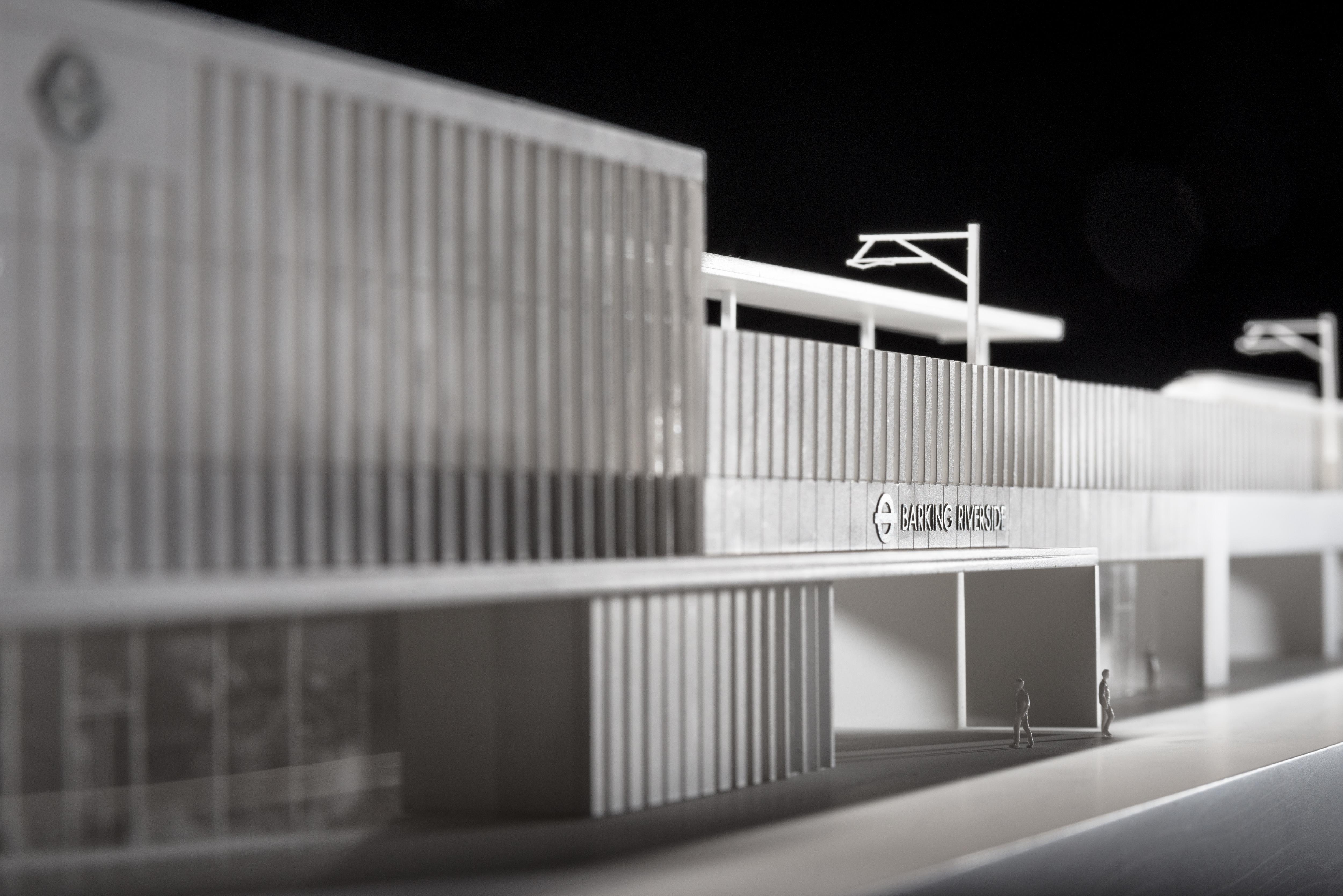 Barking Riverside station door Moxon Architects