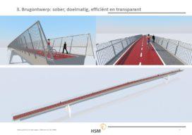 Ranke kokerliggerbrug als fietsverbinding Houten-Nieuwegein