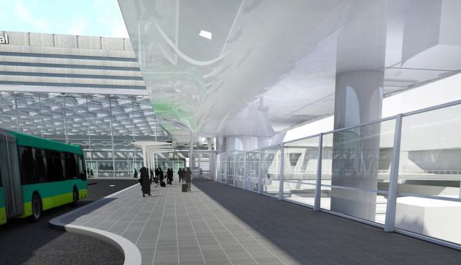 Busplatform Den Haag CS Benthem Crouwel