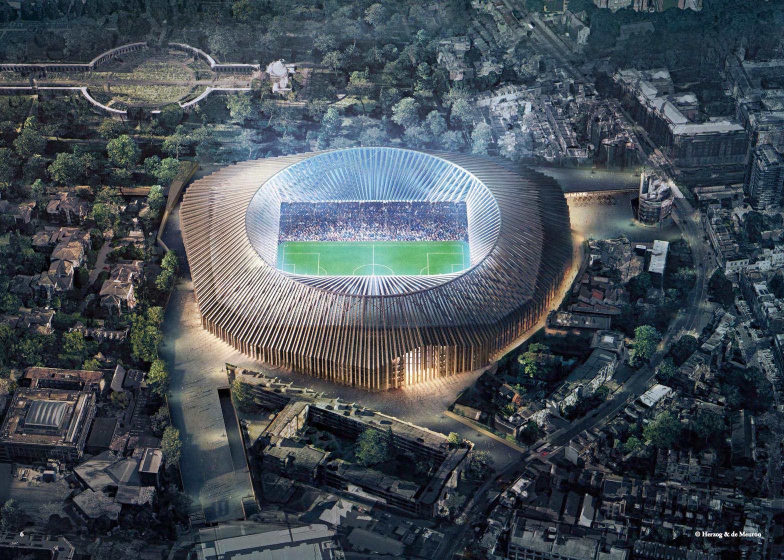 Chelsea Stadium door Herzog & de Meuron