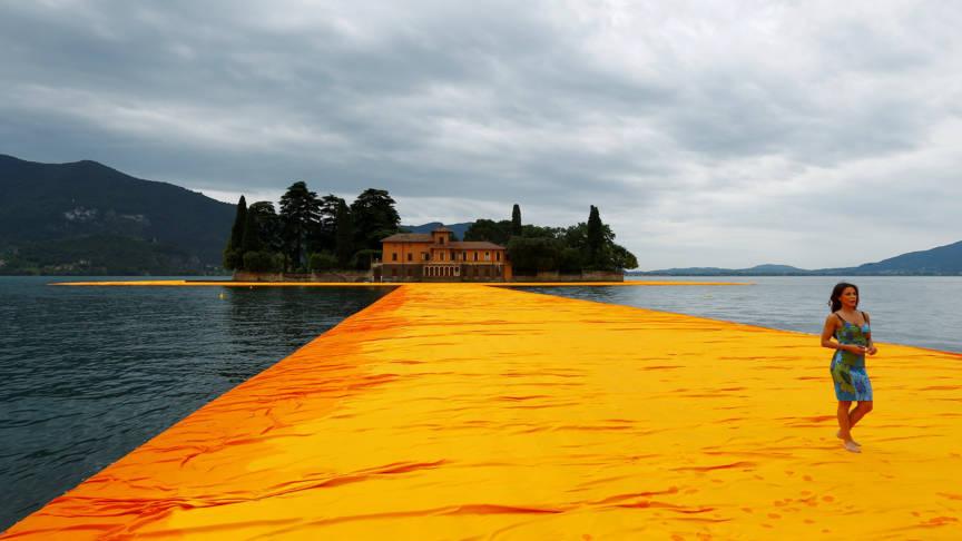 Christo Wandelpromenade Italie