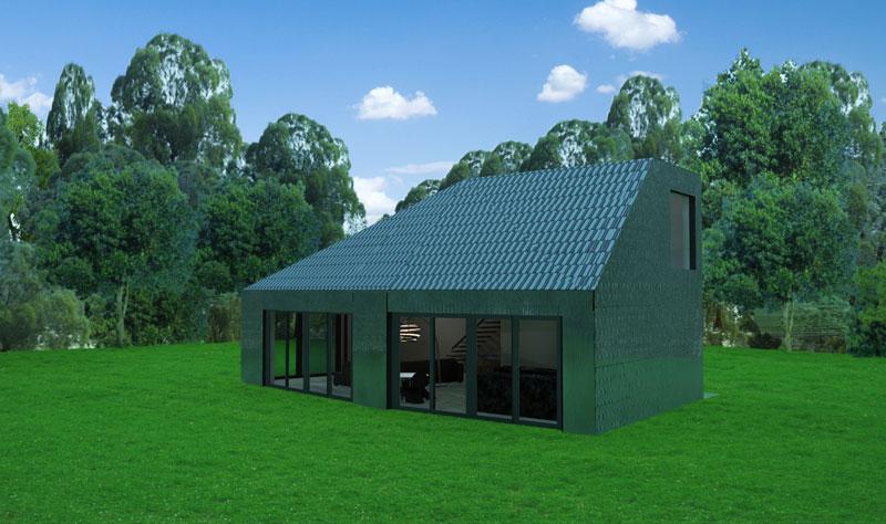 Circulair bouwen - huis van 100 procent gerecycleld materiaal