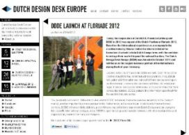 Dutch Design Desk Europe van start