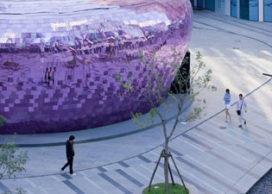 Tijdelijke paviljoens in Beijing en New York