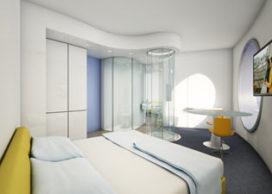 Futuristisch hotel in Amsterdam
