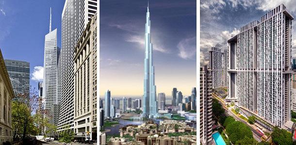 Hoogste torens ter wereld anno 2010