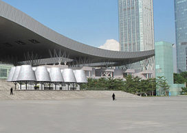 Shenzhen Medular Pavilion in aanbouw