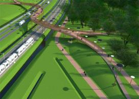 Fiets- en voetbrug Hobbema 2.0 wordt gebouwd