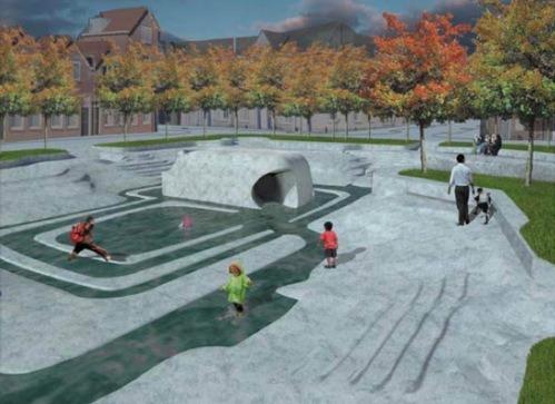 Waterplein Rotterdam door De Urbanisten en Studio Marco Vermeulen