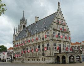 Monumentaal gemeentehuis Gouda te huur