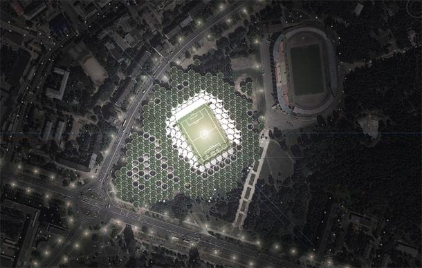IAA _ Voetbalstadion met tractorkleppen in Minsk_RenderSter van Week 32-2014