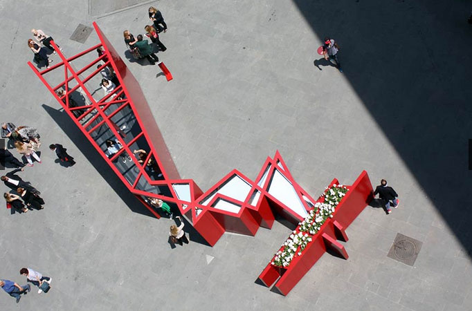 FLorence Daniel Libeskind Installatie Flower Blossom