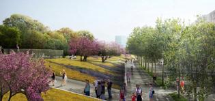 West 8 presenteert nieuw masterplan Yongsan Park Seoul