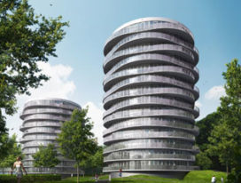 Twee nieuwe woontorens in Haarlem