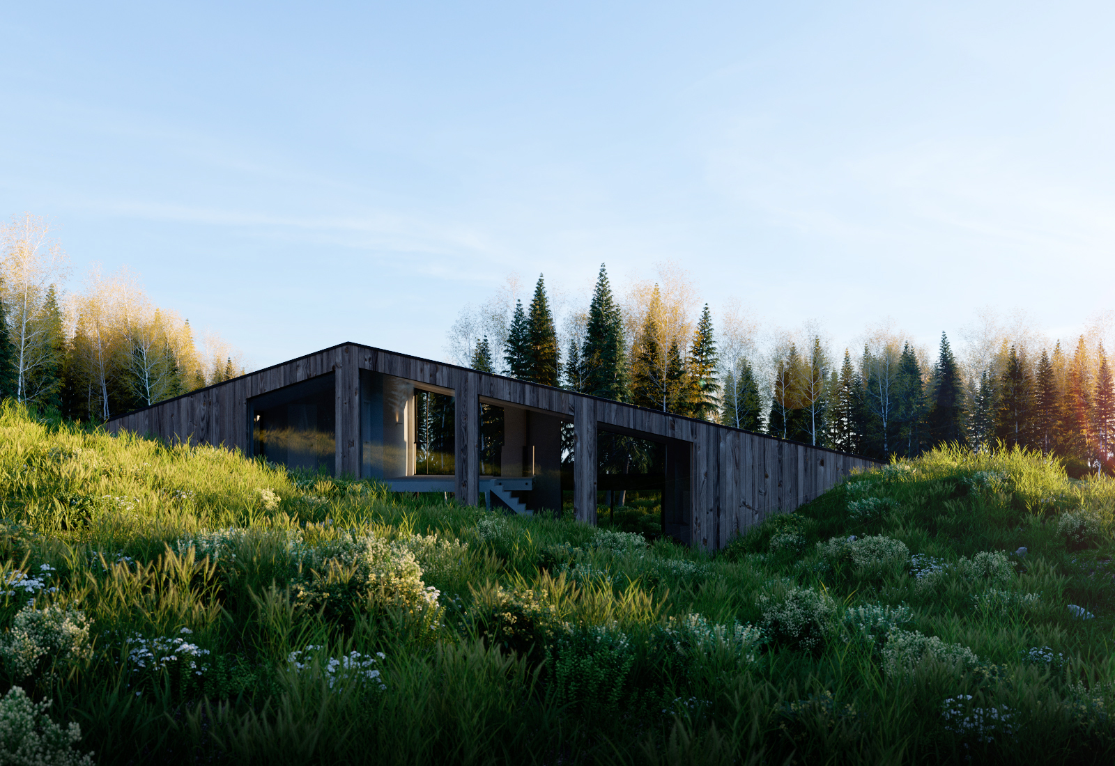 Render Ster van de Week - Woning Diepenheim door Maas Architecten. Impressies gemaakt door Triple D