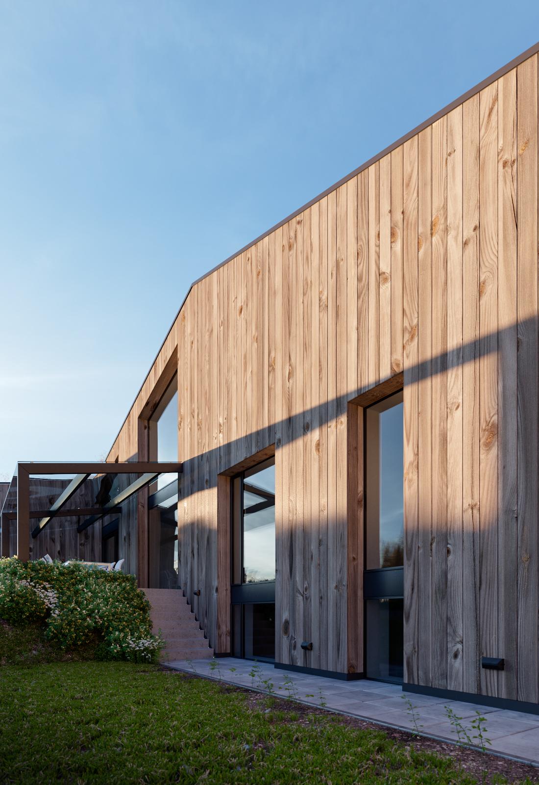 Render Ster van de Week - Woning in Diepenheim door Maas Architecten. Impressies gemaakt door Triple D