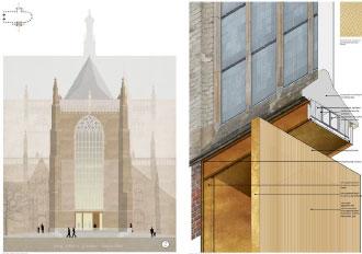 Noord- en Zuidtransept 2e prijs Eusebius ontwerpwedstrijd