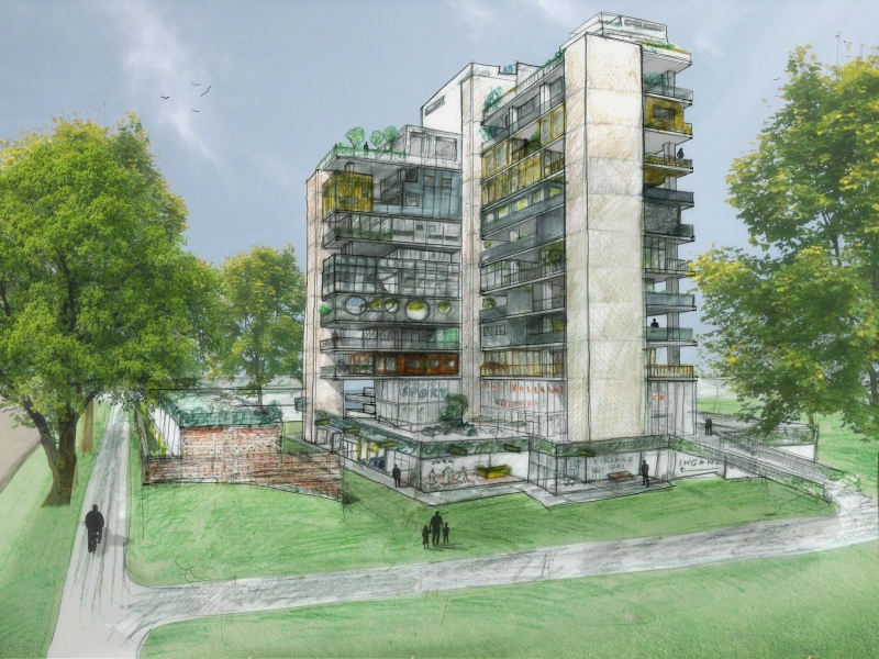 Renovatie td-gebouw Eindhoven door Piet Hein Eek architecten