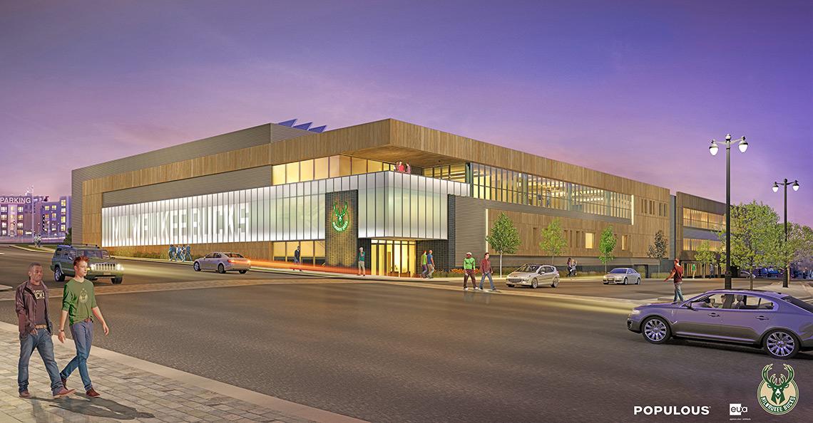 Trainingscentrum Milwaukee Bucks door Populous