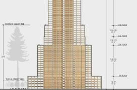 Empire State Building en Colosseum van hout