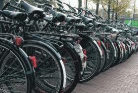 Grote steden verzuipen in fietsen
