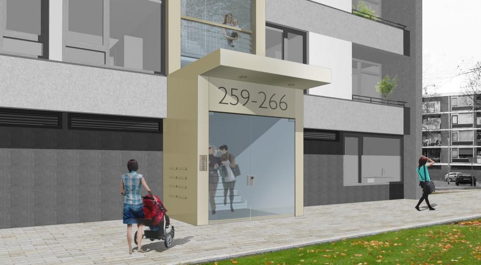 Renovatie E-flats Zaandam door KAW