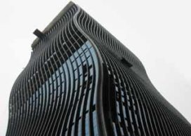 Golvende kantoortoren in Seoul