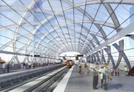 GMP geselecteerd voor station Elbbrücken, Hamburg
