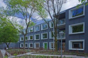 Verplaatsbaar WoonZorgGebouw in Hilversum door HVDN architecten