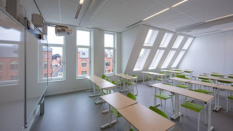 Interieur ID College Leiden door Mecanoo