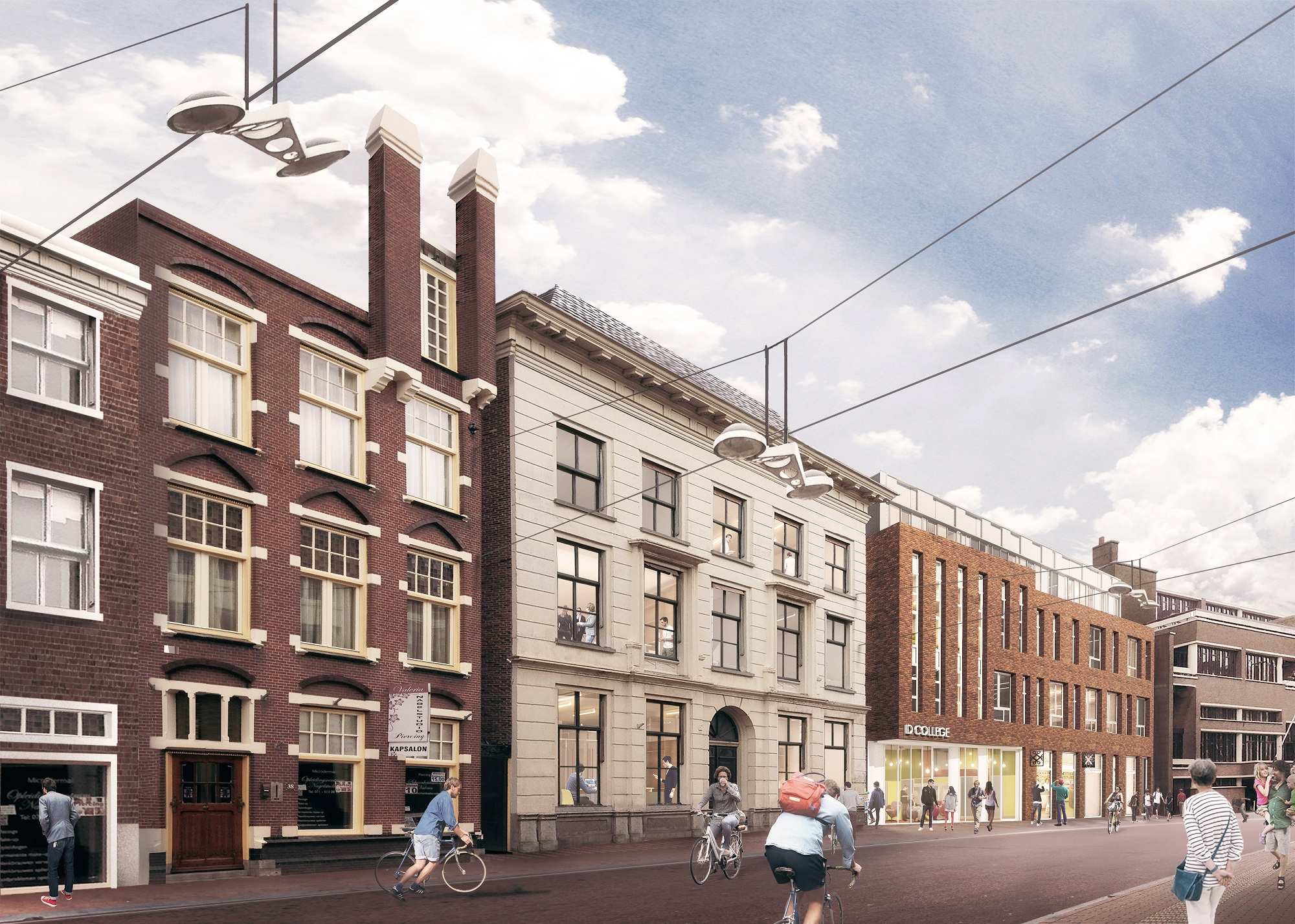 Breestraat Leiden ROC ID College Mecanoo