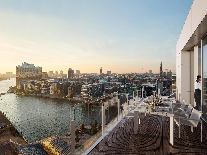 Richard Meier Engel & Volkers HQ; appartementencomplex, Hamburg