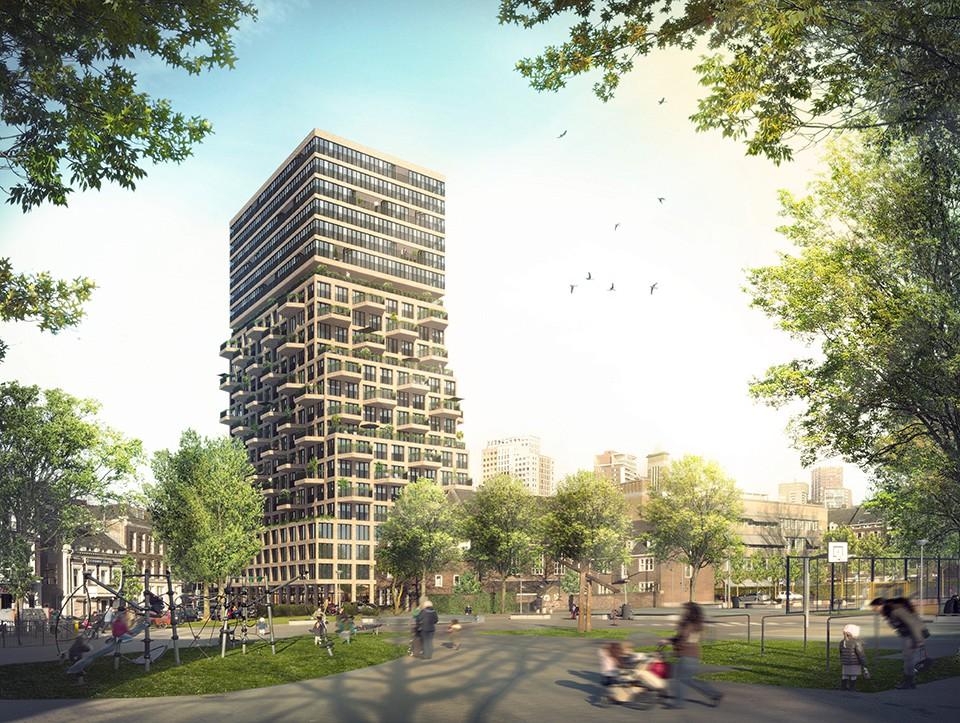 Parkhuis Cool Rotterdam door Van Bergen Kolpa Architecten