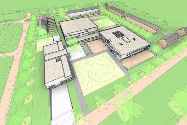 KOW ontwerp Kindcentrum in Vught