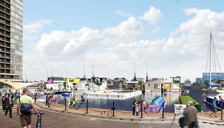 Render Ster - Floating City Londen