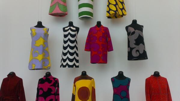Marimekko design in de Kunsthal. Foto Raamwerk via Twitter.