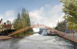 Presentatie 'Ney-bruggen' in het Singelpark Leiden