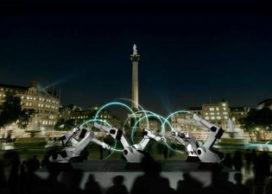 Robots sturen boodschappen tijdens London Design Festival