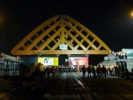 Tweede houten Accoyabrug voor zwaar verkeer in Sneek