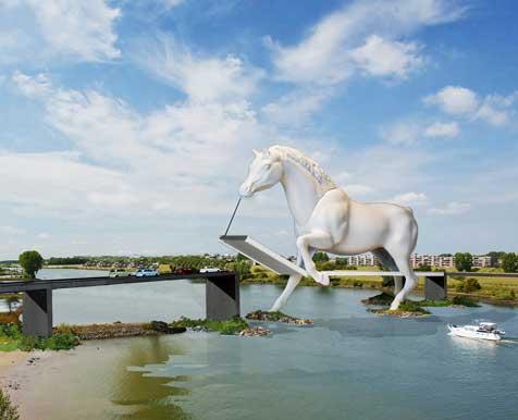 Het 'Paard van Troje' van ontwerper Rop Ranzijn.Illustratie: Yani