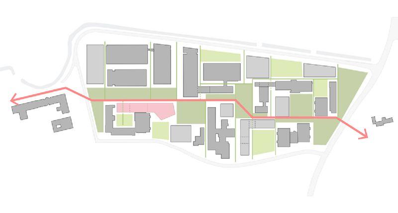 KU Leuven beoogt met dit project een goed functionerend gebouw waarin het ontwerp erin slaag een genius loci te creëren waar het voor studenten aangenaam vertoeven, verblijven, werken en samenwerken is. Foto/illustratie : POLO Architects