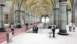 Ingang Rijksmuseum aan de zijkanten